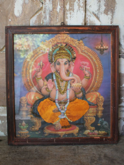 Embellished Vintage Print of Lord Ganesh
